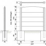 Abmessungen-L 200X40cm